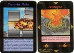 1990 9/11 Twin Towers & Pentagon Predictive Programming. Illuminati Cards by Steve Jackson Games