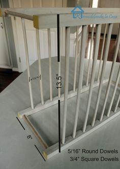 Remodelando la Casa: DIY - Inside Cabinet Plate Rack
