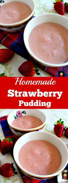 Exceptional Homemade Strawberry Pudding Is So Delicious! Made From Scratch Using Fresh  Ingredients And No Additives Amazing Pictures