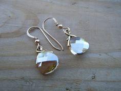 Lovely Golden Shadow Earrings - Bridal Perfect - Little Black Dress Lovely. $18.00, via Etsy.