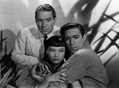 "J. Carrol Naish, Anna May Wong & Anthony Quinn in publicity still for ""Island of Lost Men""(1939)"