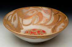 Historical Potters: Alan Caiger-Smith was a very inspiring potter and he recently died this February. His pieces were mostly the same but he made it look really good. Glazes For Pottery, Pottery Bowls, Ceramic Bowls, Pottery Art, Earthenware, Stoneware, Craig Smith, Glazing Techniques, Italian Pottery