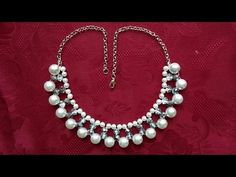 DIY Easy Elegant Necklace in less than 10 minutes. Beginners project - YouTube