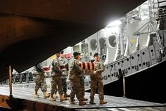 The bodies of the six U.S. soldiers killed in a weekend enemy bombing in Afghanistan have returned to the United States