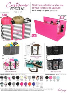 may 2015 GREAT customer specials in May! Shop starting May 1st at my website- www.mythirtyone.com/vannyr