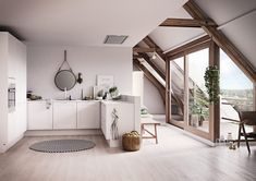Vit Kvadrat | HTH Oversized Mirror, Gallery Wall, Furniture, Home Decor, Ceiling, Kitchens, Decoration Home, Room Decor, Home Furnishings