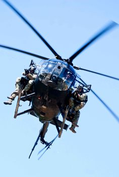 US Special Forces training with MH-6 Littlebirds from 160th SOAR