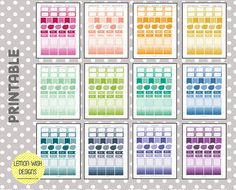 Design 1 Horizontal Annual Bundle Pack | Printable Life Planner Stickers | Perfect for Erin Condren Planners