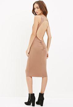 Cutout-Back Midi Dress