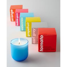 Jonathan Adler Pop Scented Candle featuring polyvore, home, home decor, candles & candleholders, earl grey, citrus scented candles, jonathan adler home decor, grapefruit candle, garden candles and jonathan adler