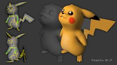 New Pikachu 3D (WIP) by Spartan-Ghost