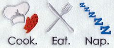 Cook Eat Nap Thanksgiving embroidery design for apron?