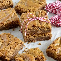 """An exlusive recipe featured from Katrina Bahl's """"The Biscoff Cookie & Spread"""" Cookbook. These fudgy brownies are thick and rich. The Biscoff swirl makes them so beautiful, too! Try them with some creamy vanilla ice cream, or cut up into a Butterscoth Biscoff Trifle."""