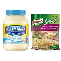 Pour chaque 4 $ dépensé sur la Mayonnaise Hellmann's ou les SideKicks de Knorr