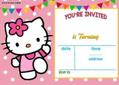 Download Now FREE Hello Kitty Invitation Templates
