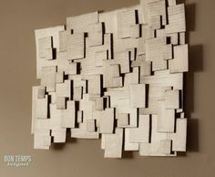 Recycled Cardboard: A project for the cheap/bored craftster with naked walls
