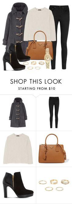 """""""Sin título #11992"""" by vany-alvarado ❤ liked on Polyvore featuring Yves Saint Laurent, The Row, Prada, Dune, Rolex and River Island"""