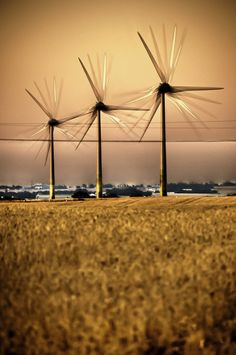 Kansas perfect for wind generators, open spaces and wind