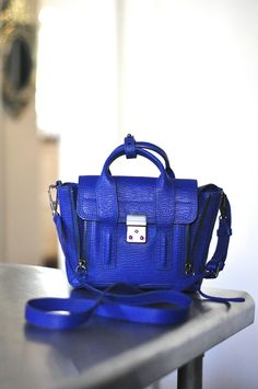Phillip Lim Mini Pashli in Cobalt. Retails from $650 via wheredidugetthat. Click on the image to see more!