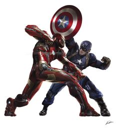CAPTAIN AMERICA: CIVIL WAR! …promo art: cap vs iron man. and yes, it's an homage to michael zeck's brilliant cover.