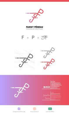Fanny Péneau - Identité visuelle - Graphisme - Logotype Brand Packaging, Branding, Chart, Map, Chart Design, Corporate Design, Graphic Design, Brand Management, Location Map