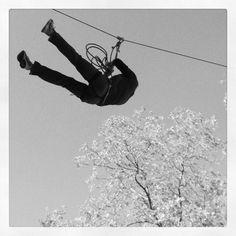 Flying is easy. Just watch @superbrent89. #nofear #zipline @turningpointla #familycamp