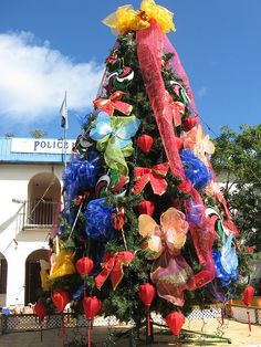 Roadtown, Tortola BVI - Christmas tree