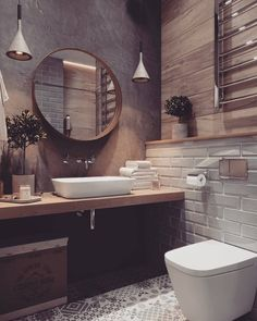 If you want to have an industrial bathroom the key factor is to take the edge of the harsh industrial look. Bathroom design Creating A Convenient Industrial Bathroom - House Topics Diy Bathroom, Bathroom Renos, Bathroom Goals, Bathroom Ideas, Bathroom Colors, Bathroom Cabinets, Tiled Bathrooms, Bathroom Renovations, Brown Bathroom