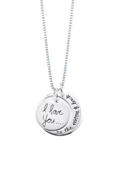 I Love You To The Moon Necklace ~ For purchase info, CLICK thru and see description.