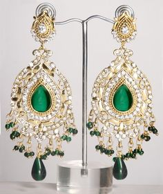 Heavy indian earrings