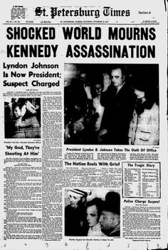 23 Front Pages From 1963 Covering The Day President Kennedy Was Assassinated (via BuzzFeed)