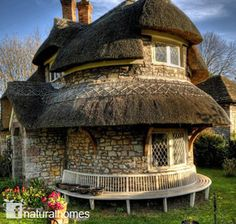 Natural Building, a 900 Year Story of Natural Materials - If you ever doubted the use of natural materials to build a home these nine buildings are a testament to its longevity. This is a rubble stone lime mortar thatched cottage built in 1811 in Blaise Hamlet near Bristol, England. The cottage, along with the rest of the hamlet, is owned by the UK's National Trust. #http://naturalhomes.org