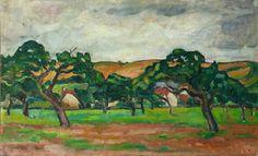 Landscape in Normandy, Louis Valtat Andre Derain, Barbizon School, St Raphael, Pierre Bonnard, Edouard Vuillard, Fauvism, Modern Artists, Henri Matisse, Renoir