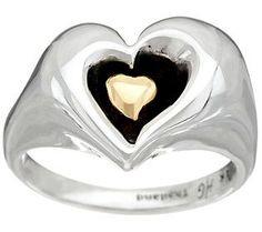 Hagit Sterling Silver & 14K Gold Heart Ring