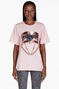 MSGM Pink Eyelash Curler Toilet Paper Edition T-shirt