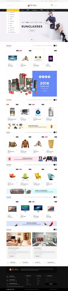 Max Shop is premium 5 in 1 #eCommerce #PSD #Template includes 15 Total Pages. Download Now!