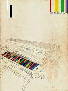 Illustration - illustration  - love music hate racism...   illustration :     – Picture :     – Description  love music hate racism  -Read More –