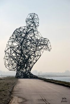 Anthony Gormley in Lelystad.