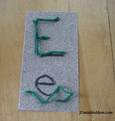 Sandpaper and Yarn Letters