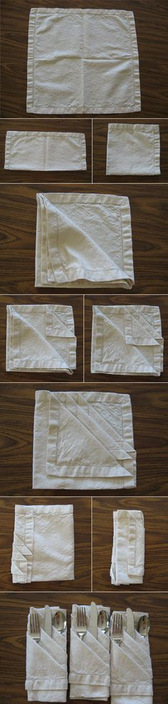 napkin folding for a dinner party