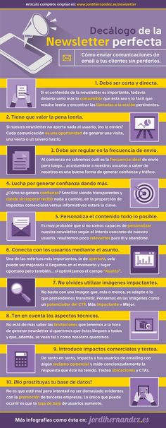 DECÁLOGO DE UNA NEWSLETTER PERFECTA #INFOGRAFIA #INFOGRAPHIC #MARKETING