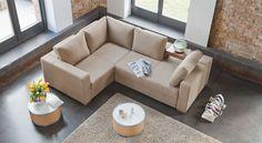 Arezzo sofa designed by Bizzarto. Covered in Marnix from Dekoma. #furnituredesign