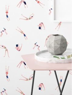 Collaboration PaperMint X My Little Paris - Papier Peint Surf House, Loft House, Downstairs Cloakroom, Bathroom, Washable Wallpaper, My Little Paris, How To Install Wallpaper, French Home Decor, Traditional Wallpaper