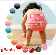 Ruffled gPants from gDiapers - Um, when I was a little girl these were called ruffle-butts. They look cute in pictures.this photographer not so much G Diapers, Cotton Diapers, Reusable Diapers, Cloth Diapers, Baby Chloe, Cheap Baby Clothes, Diaper Rash, Diaper Covers, Everything Baby