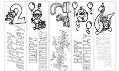 bookmark 2nd birthday, Bookmark, instant download, first birthday activity, coloring sheet, coloring bookmark, bookmarks, bookmarks to print