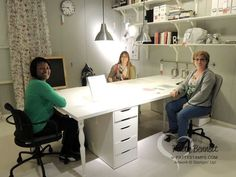 craft table at IKEA for 3 to 4 stampers to work at one time!Large craft table at IKEA for 3 to 4 stampers to work at one time! Sewing Spaces, My Sewing Room, Sewing Rooms, Sewing Room Organization, Craft Room Storage, Craft Rooms, Storage Ideas, Ikea Craft Room, Ikea Storage