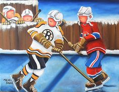 rivaux Hockey Drawing, Illustrations, Illustration Art, Wood Canvas, Sports Art, Tole Painting, Pictures To Draw, Art For Kids, Folk Art