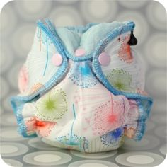The Newborn Hybrid Fitted Cloth Diaper PDF Sewing Pattern.  Fits newborn to about 16.5 pounds.