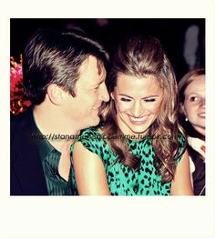 Nathan Fillion and Stana Katic I wish they were a couple in real life