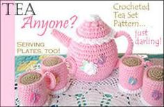 tea set crochet pattern free - Buscar con Google